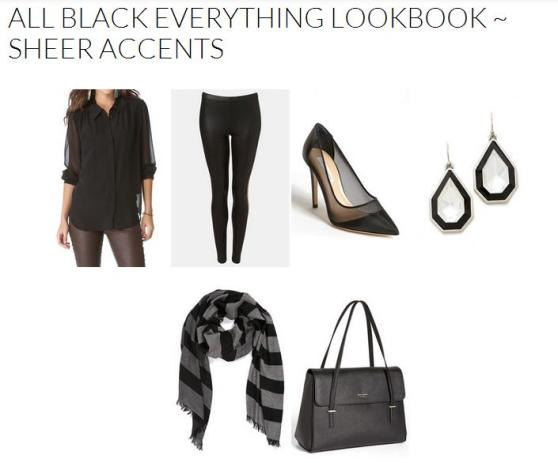 All Black Everything Lookbook ~ Sheer Accents