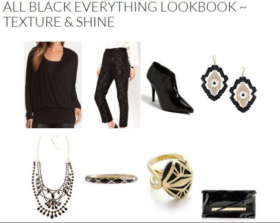All Black Everything Lookbook ~ Texture & Shine