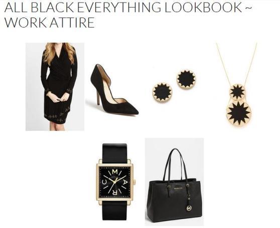 All Black Everything Lookbook ~ Work Attire