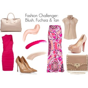 Fashion Challenger - Blush, Tan & Fuchsia  2