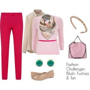 Fashion Challenger - Blush, Tan & Fuchsia 1