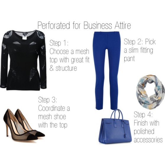 Fashion Byte - Perforated for Business Attire